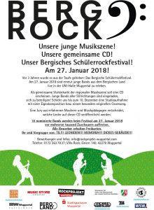 Plakat Bergisches Schülerrockfestival