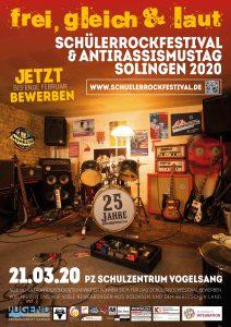 Schülerrockfestival Plakat Aufruf